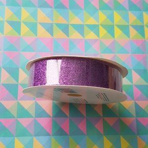 Purple Glitter Ribbon Tape